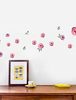cheap -Romantic And Fresh Pink Ink Rose Home Bedroom Living Room Warm Background Decoration Can Remove Stickers
