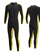 cheap -Men's Full Wetsuit 2mm SCR Neoprene Diving Suit Quick Dry Long Sleeve Front Zip Patchwork Autumn / Fall Spring Summer
