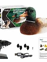 cheap -simulation floating remote control duck toy, electric rc boat hunting motion decoy props, simulation water duck spoof funny toy, waterproof toys for pools and lakes (green, 14.5 x 6.6 x 5.6in)