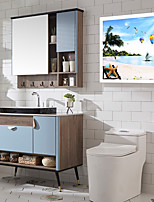 cheap -Bathroom Folding Mural Cabinet Free Perforation Wall-mounted Toilet Storage Cabinet