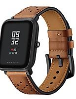 cheap -amazfit bip strap leather 20mm smart watch replacement band women men wrist strap bracelet wristband for amazfit bip/samsung galaxy watch 42mm/galaxy watch active 40mm/gear sport, brown