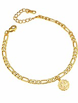 cheap -zodiac ankletes for women barefoot sandals jewelry hypoallergenic ankle bracelets 18k gold plated virgo constellation anklet