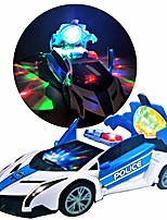 cheap -police car toy stunt car- 360 spinning, police cars vehicle, realistic sound effects,projection led light up disco battery operated bump-n-go no remote control needed, police toy car for all ages