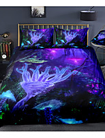 cheap -Luminous Forest Print 3-Piece Duvet Cover Set Hotel Bedding Sets Comforter Cover with Soft Lightweight Microfiber For Holiday Decoration(Include 1 Duvet Cover and 1or 2 Pillowcases)