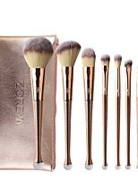 cheap -8PC Rose Gold Mermaid Makeup Brush 8 Nylon Hair Beauty Tools Make Up Kit Brush