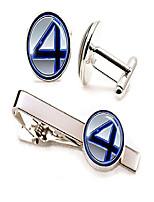 cheap -fantastic four tie clip, marvel fantastic 4 cufflinks, superhero wedding jewelry, groomsmen gifts, groomsman gift