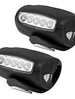 cheap -2pcs led bicycle light bike front rear light bike lamp headlight led safety light for bicycle road or mountain bike black