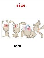 cheap -Cute Rabbit Wall Sticker Wall Sticker Pvc Decorative Wall Sticker Home Decoration Wall Decal Wall Decoration 1pc