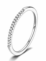 cheap -stackable rings 925 sterling silver simple hypoallergenic cz stimulated diamond stacking hoop ring eternity bands size 6 for women girls
