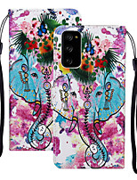 cheap -Case For Samsung Galaxy S20 Plus / S20 Ultra / S20 Shockproof Full Body Cases Animal / Flower PU Leather / TPU