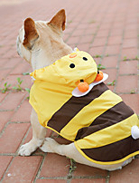 cheap -Dog Raincoat Animal Cute Adorable Outdoor Dog Clothes Puppy Clothes Dog Outfits Waterproof Yellow Costume for Girl and Boy Dog PU Leather S M L XXL