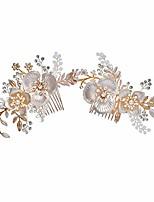 cheap -white 1t shoulder snowdrop wedding headpiece wedding comb h8188