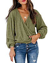 cheap -womens camo shirts off shoulder fashion t-shirt casual loose pullover blouse tops (green#1, large)