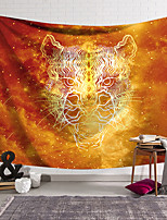 cheap -Wall Tapestry Art Deco Blanket Curtain Hanging Home Bedroom Living Room Dormitory Decoration Polyester Fiber Animal Painted Orange Red Yellow Leopard Line