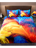 cheap -Colorful Smog 3-Piece Duvet Cover Set Hotel Bedding Sets Comforter Cover with Soft Lightweight Microfiber, Include 1 Duvet Cover, 2 Pillowcases for Double/Queen/King(1 Pillowcase for Twin/Single)