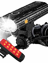 cheap -rechargeable bike lights front and back - ultra bright bicycle headlight and taillight set, quick release cycling flashlight, road/mountain/city bike accessories for men/women/kids
