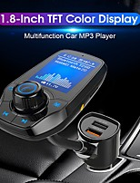 cheap -T26D Bluetooth FM Transmitter for Car Bluetooth Car Adapter Car MP3 Player with 1.8 Inch Color Display AUX Input Output Handsfree Call TF Card USB QC3.0