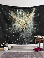 cheap -Wall Tapestry Art Deco Blanket Curtain Hanging Home Bedroom Living Room Dormitory Decoration Polyester Fiber Animal Leopard Water Flower
