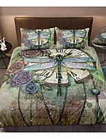 cheap -3D Dragonfly Print 3-Piece Duvet Cover Set Hotel Bedding Sets Comforter Cover with Soft Lightweight Microfiber For Holiday Decoration(Include 1 Duvet Cover and 1or 2 Pillowcases)