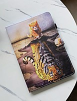cheap -Case For Apple iPad mini 1/2/3  7.9'' / iPad mini 4 7.9'' / iPad mini 5 7.9'' Shockproof Full Body Cases Animal PU Leather / TPU