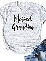 cheap -blessed grandma t shirt grandmother mother gifts top women graphic print short sleeve shirt top size m (white)