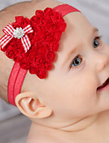 cheap -1pcs Toddler / Infant Girls' Active / Sweet Red Heart Heart Chiffon Hair Accessories Black / Red One-Size