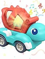 cheap -dinosaur car toy, electronic auto turn around dinosaur vehicle toy with roar sound music led for kids (dinosaur b)