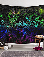 cheap -Wall Tapestry Art Decor Blanket Curtain Hanging Home Bedroom Living Room Decoration Polyester Fiber Color Skull Skull Pattern Lanting Design Style