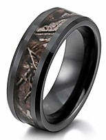 cheap -men's 8mm ceramic ring black brown hunting camo camouflage comfort fit band wedding size14
