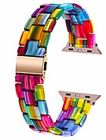 cheap -smart watch bracelet compatible with apple watch band 42mm 44mm 40mm 38mm sport replacement band colorful resin quick release strap compatible for apple watch series 6 se 5 4 3 2 1 rainbow