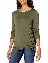 cheap -women's long sleeve jersey knit top, heather green, extra large