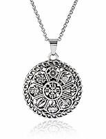 cheap -yoga inspired om lotus mandala necklace pendant for women men 8 auspicious buddhist symbols tibetan protection jewelry