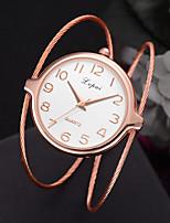 cheap -Women's Quartz Watches Quartz Stylish Fashion Casual Watch Analog Rose Gold Golden+Black White+Golden / One Year