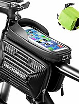 cheap -bike frame bag top tube bag bicycle phone bag waterproof with sensitive touch screen compatible with iphone x, xs, xs max,iphone 6 7 8 plus