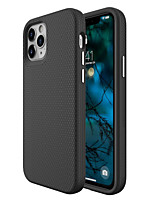 cheap -Case For Apple iPhone 12 / iPhone 11 / iPhone 12 Pro Max Shockproof Back Cover Solid Colored / Geometric Pattern TPU