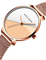 cheap -Women's Quartz Watches Quartz Stylish Fashion Adorable Analog Rose Gold Golden / Brown Golden+White / One Year / Stainless Steel