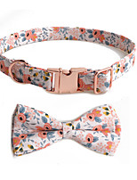 cheap -Dog Collar Tie / Bow Tie Adjustable Retractable With Bell Durable Outdoor Walking Classic Bowknot Flower Nylon Small Dog Blue Orange Green 1pc