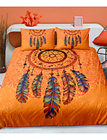 cheap -Dreamcatcher Print Orange Color 3-Piece Duvet Cover Set Hotel Bedding Sets Comforter Cover with Soft Lightweight Microfiber For Room Decoration(Include 1 Duvet Cover and 1or 2 Pillowcases)