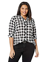cheap -women's petite dara gingham shirt, black, 16