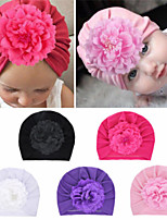cheap -1pcs Toddler / Infant Girls' Basic Black / White Solid Colored Flower Spandex / Cotton Hair Accessories White / Black / Purple One-Size