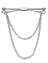 cheap -vintage tie chain mid century tie clip with chain groomsman gift tie bar tie accessory