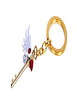 cheap -anime card captor sakura kinomoto sakura star wand keyring necklace pendant key chain (necklace)