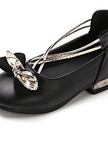 cheap -Girls' Heels Princess Shoes PU Little Kids(4-7ys) Big Kids(7years +) Party & Evening Walking Shoes Black Red Spring
