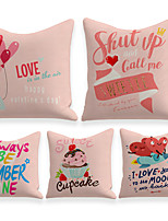 cheap -Cushion Cover 5PCS Linen Soft Decorative Square Throw Pillow Cover Cushion Case Pillowcasefor Sofa Bedroom 45 x 45 cm (18 x 18 Inch) Superior Quality Mashine Washable