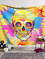 cheap -Wall Tapestry Art Decor Blanket Curtain Hanging Home Bedroom Living Room Decoration Polyester Fiber Novelty Still Life Color Graffiti Skull
