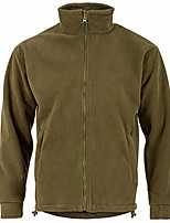 cheap -Men's Hiking Softshell Jacket Hiking Fleece Jacket Autumn / Fall Winter Outdoor Quick Dry Lightweight Breathable Sweat wicking Winter Jacket Top Hunting Fishing Climbing Black Army Green