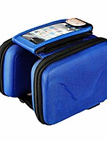 cheap -bike pouch for cycling bicycle bag frame bag, front frame waterproof cycling zipper pockets large pockets for road mountain bicycle-blue-6.0