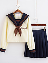 cheap -Inspired by JK Schoolgirls Skirt Cosplay Costume Polyester / Cotton Blend Color Block Cravat For Women's / Top / Top