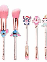 cheap -5 pieces interstellar theme baby stitch make-up brush set, best gift for girls (cylinder).