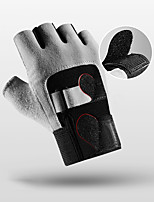 cheap -Bike Gloves / Cycling Gloves Anti-Slip Breathable Warm Durable Fingerless Gloves Sports Gloves Black Grey for Adults' Outdoor Exercise Cycling / Bike